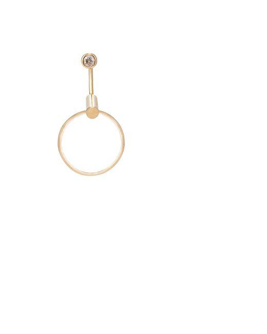 Hirotaka | Metallic White Diamond & Yellow Gold Earring | Lyst