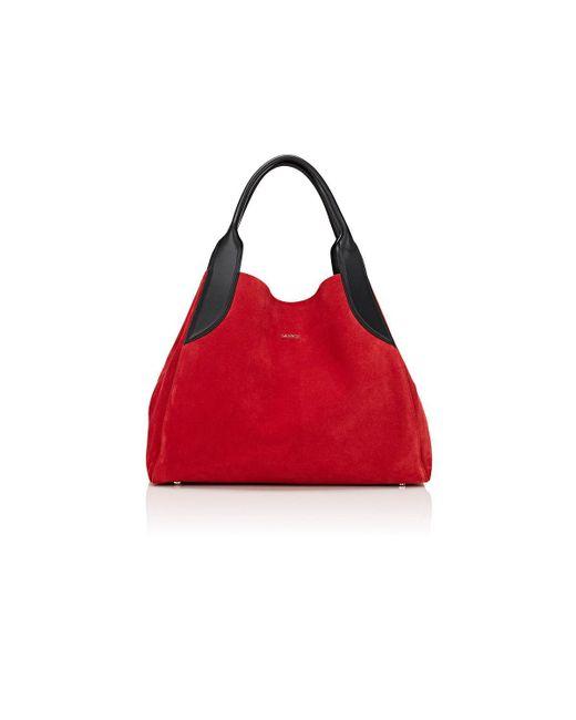 Lanvin - Red Trapeze Small Tote Bag - Lyst