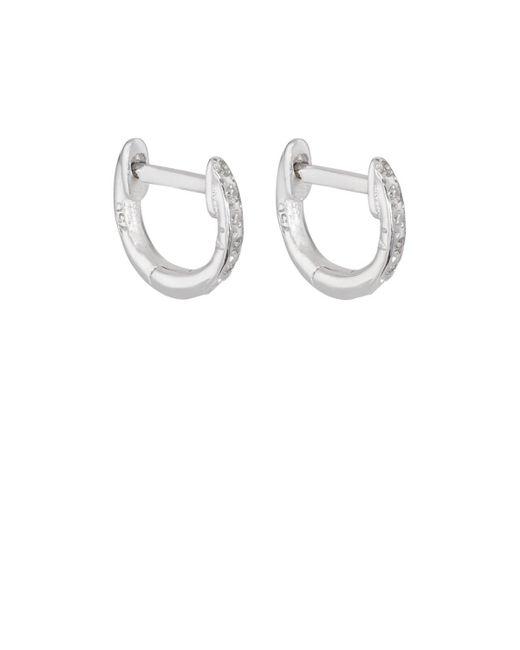 Ileana Makri - White Diamond Huggie Hoops - Lyst