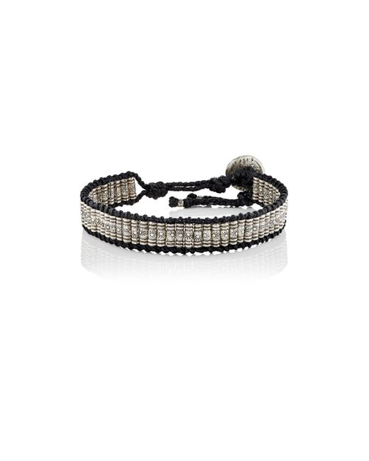 M. Cohen | Black Beaded Cord Bracelet | Lyst