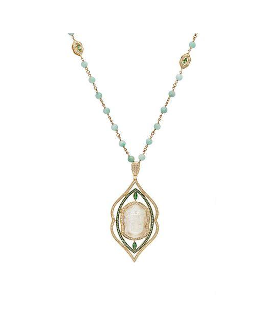 Sara Weinstock | Metallic Arabesque Pendant On Beaded Chain Necklace | Lyst