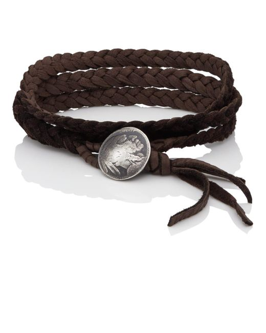 Feathered Soul - Brown #indiana Wrap Bracelet - Lyst
