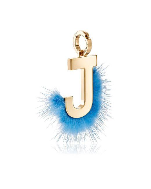 Fendi - Metallic Abclick J Bag Charm - Lyst