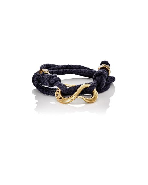 Giles & Brother - Black Rope Wrap Bracelet With S - Lyst