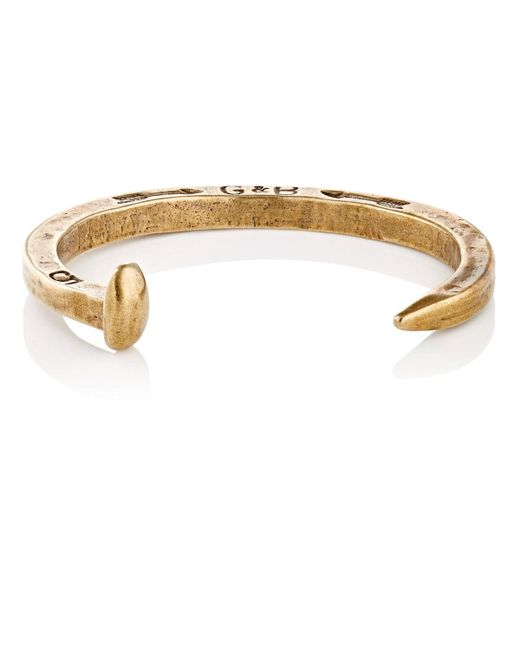 Giles & Brother - Metallic Railroad Spike Cuff for Men - Lyst