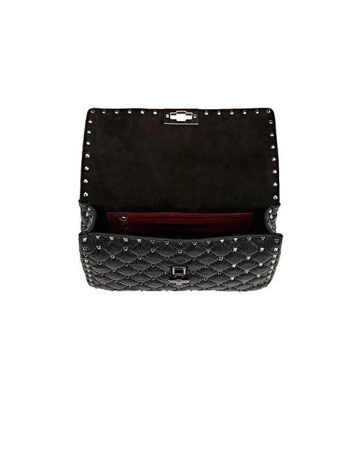ebaa1ced81 Valentino Rockstud Medium Shoulder Bag in Black - Save 24% - Lyst