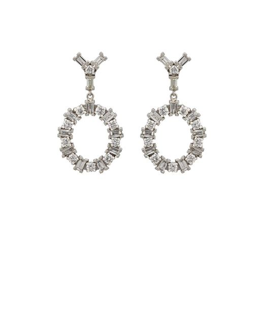 Ileana Makri | Metallic White Diamond Double | Lyst