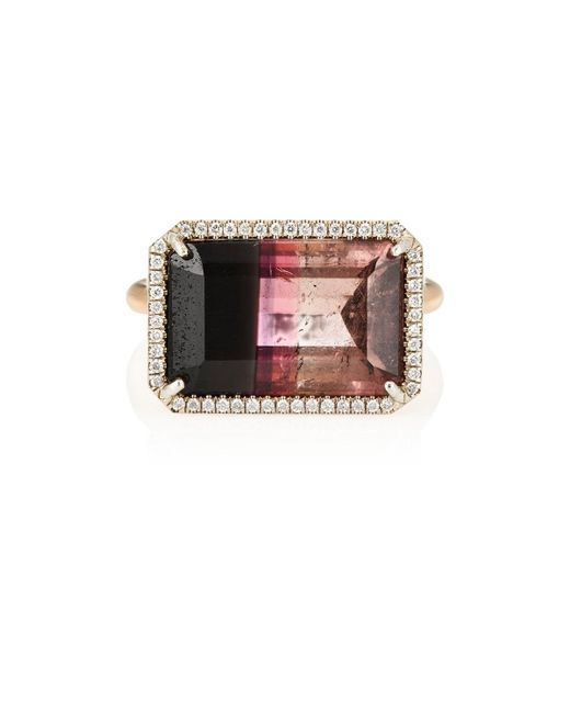 Irene Neuwirth | Metallic White Diamond & Bicolor Tourmaline Ring | Lyst