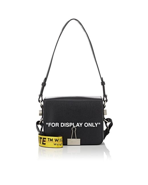 aeb844531097 Off-White c o Virgil Abloh - Black Binder-clip Small Leather Crossbody ...
