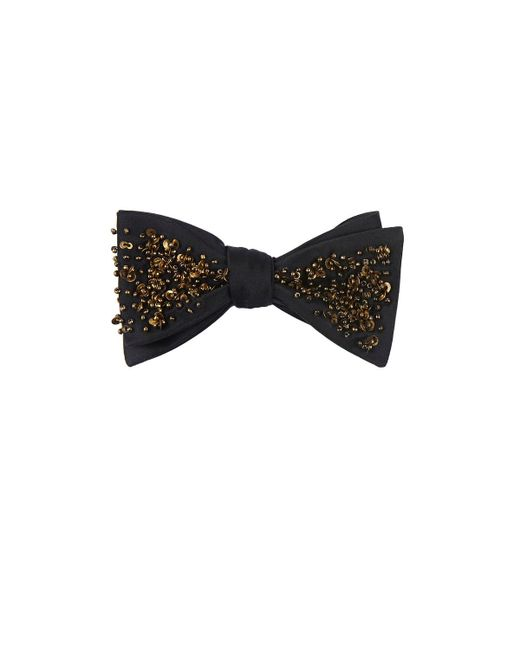 Title Of Work | Black Polar Defrost Silk Bow Tie for Men | Lyst