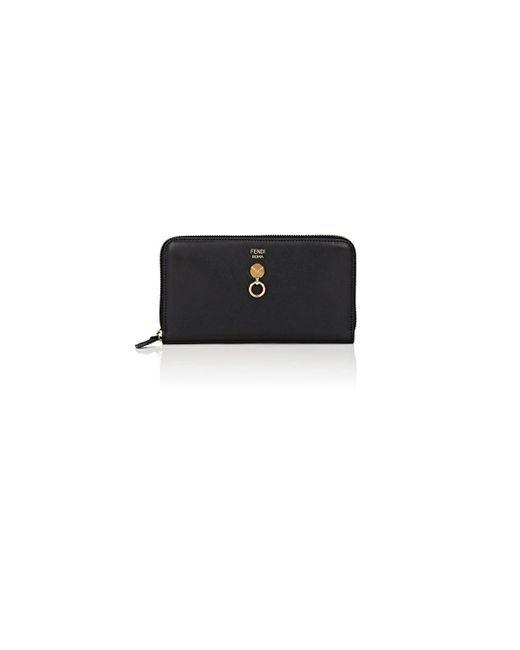 Fendi - Black Abclick Zip-around Wallet - Lyst