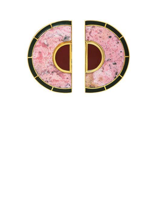 Monica Sordo - Metallic Brujo Half Orbit Earrings - Lyst