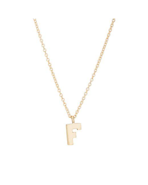 Bianca Pratt - Metallic f Pendant Necklace - Lyst