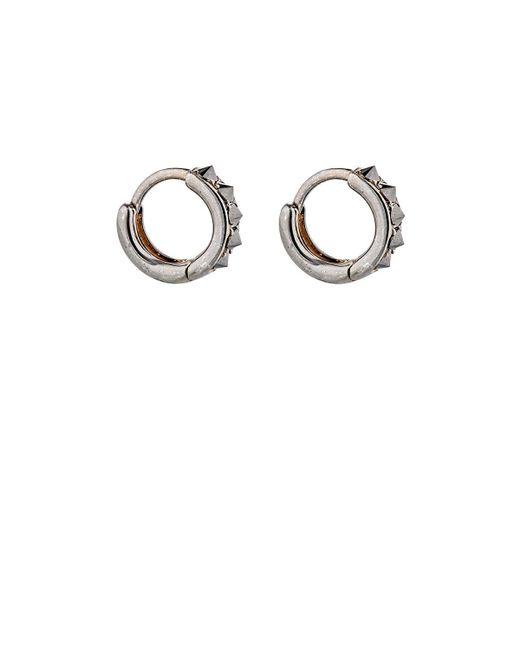 Eva Fehren - Metallic Black Diamond Huggie Hoops Size Os - Lyst