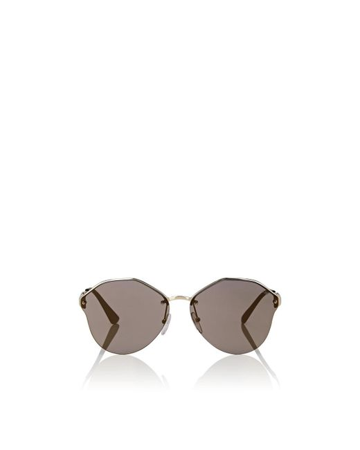 Prada - Metallic Geometric Sunglasses - Lyst