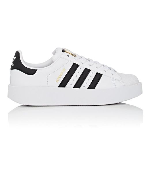 Adidas | White Superstar Bold Leather Sneakers | Lyst