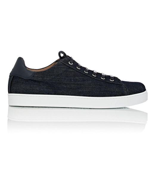 Gianvito Rossi - Blue David Denim Sneakers for Men - Lyst