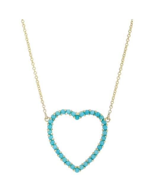 Jennifer Meyer - Blue Cutout Heart Pendant Necklace - Lyst