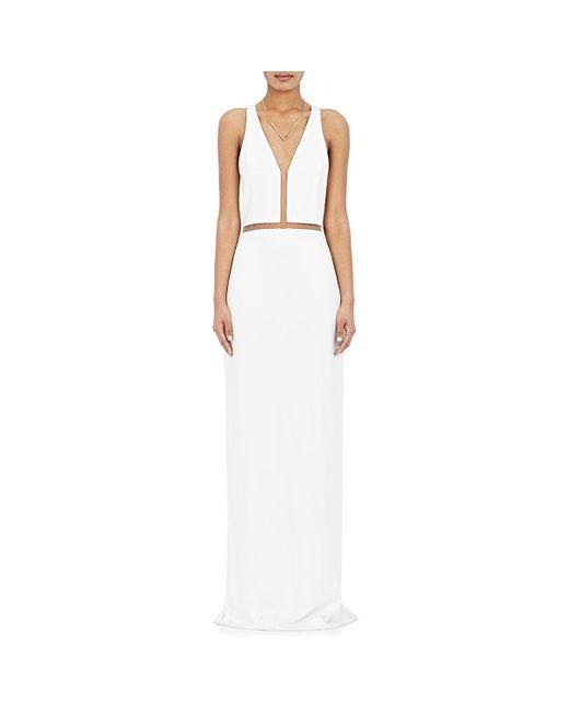 Alexander Wang | White Fishline Gown | Lyst