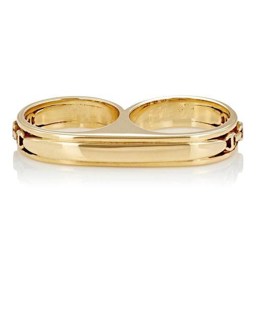 Hoorsenbuhs - Metallic Double Barrel Ring Size 7 - Lyst