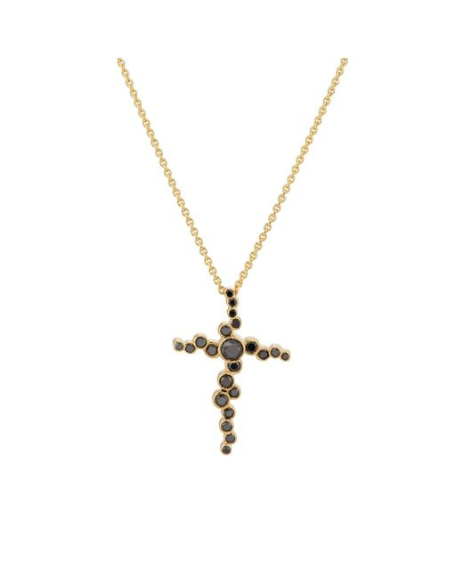 Pamela Love - Black Cross Pendant Necklace - Lyst
