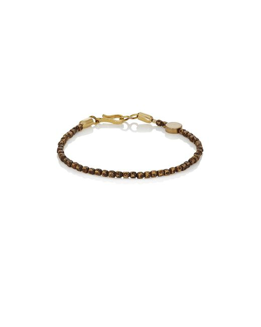 Caputo & Co. | Metallic Distressed Brass Beaded Bracelet | Lyst