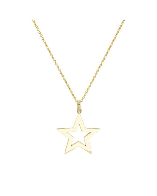 Jennifer Meyer | Metallic Open Star Pendant Necklace | Lyst