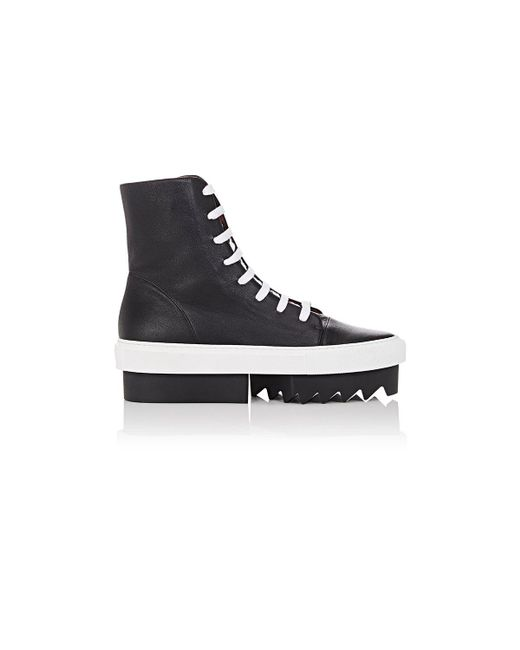 Givenchy | Black Leather Platform Sneaker Boots | Lyst