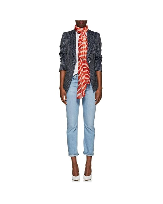 Denis Colomb - Red Silky Cloud Cashmere-silk Striped Gauze Scarf - Lyst