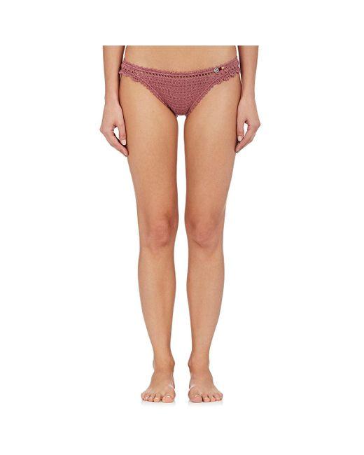 She Made Me - Multicolor Amira Crochet Cheeky Bikini Bottom - Lyst
