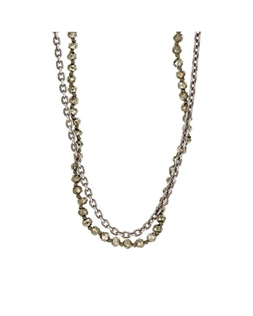 M. Cohen - Metallic Beaded Double-strand Necklace for Men - Lyst