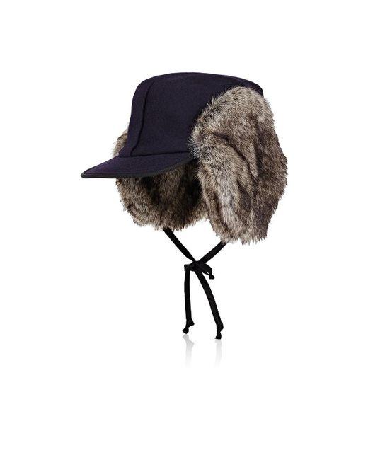 Lola Hats - Blue Woodsman Wool Trapper Hat - Lyst