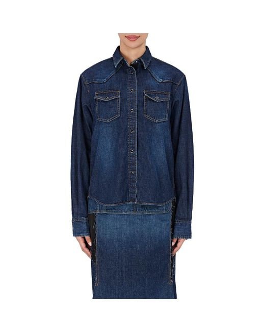 Sacai - Blue Pleat-back Western - Lyst