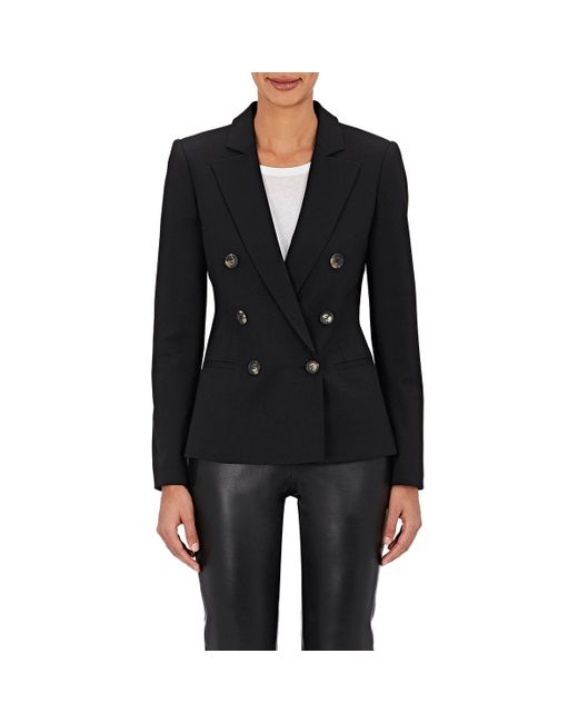 Barneys New York - Black Wool-blend Double - Lyst