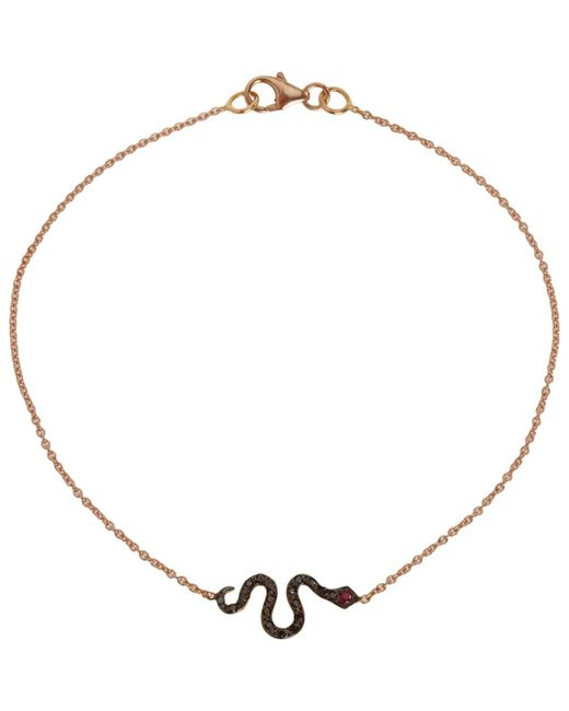 Ileana Makri - Metallic Little Snake Bracelet - Lyst