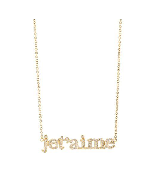 Jennifer Meyer - Metallic je T'aime Pendant Necklace - Lyst
