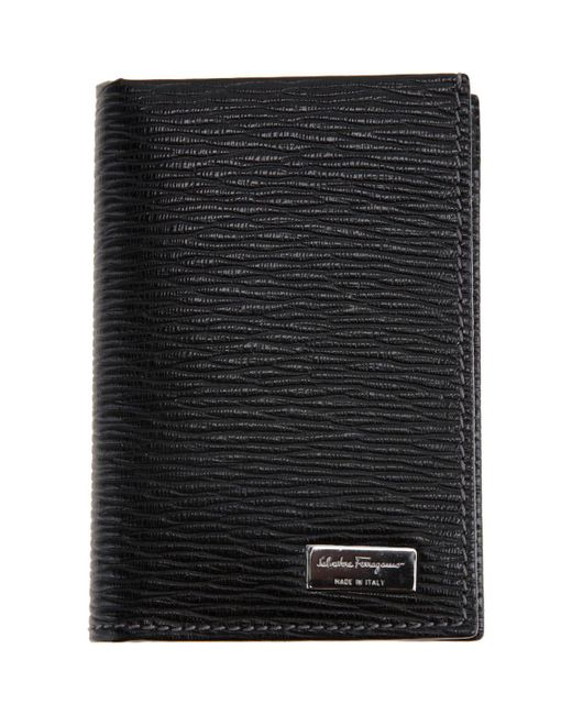 Ferragamo - Black Revival Credit Card Holder for Men - Lyst