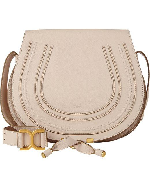 Chloé - White Marcie Crossbody Saddle Bag - Lyst