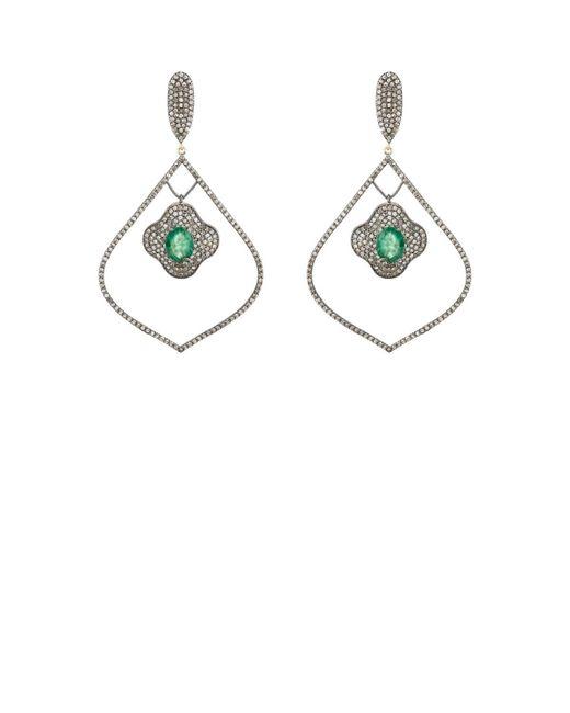 Carole Shashona - Metallic Arabesque Vert Earrings - Lyst