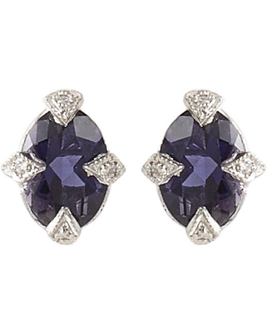 Cathy Waterman - Purple Diamond, Iolite & Platinum Studs - Lyst