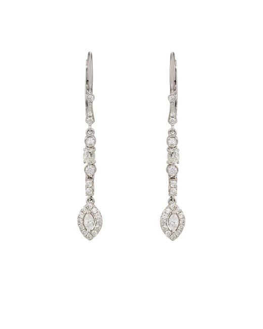 Zoe | Multicolor White Diamond Drop Earrings | Lyst