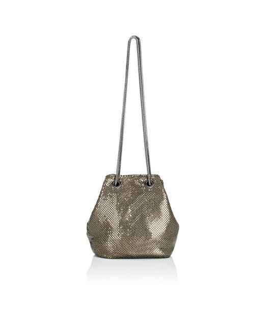 Barneys New York | Metallic Metal Mesh Bucket Bag | Lyst