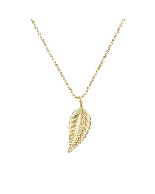 Jennifer Meyer | Metallic Leaf Pendant Necklace | Lyst