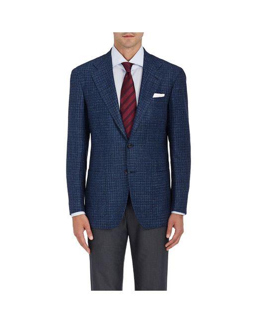 Kiton | Blue Kb Plaid Cashmere-blend Two for Men | Lyst