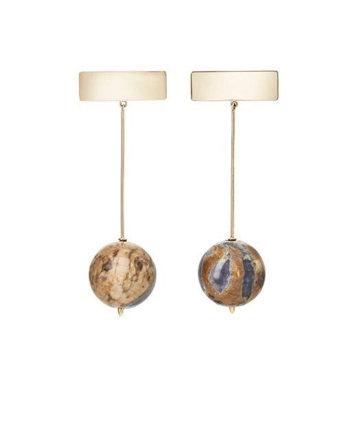 Kathleen Whitaker | Metallic Chalcedony & Yellow Gold Drop Earrings | Lyst