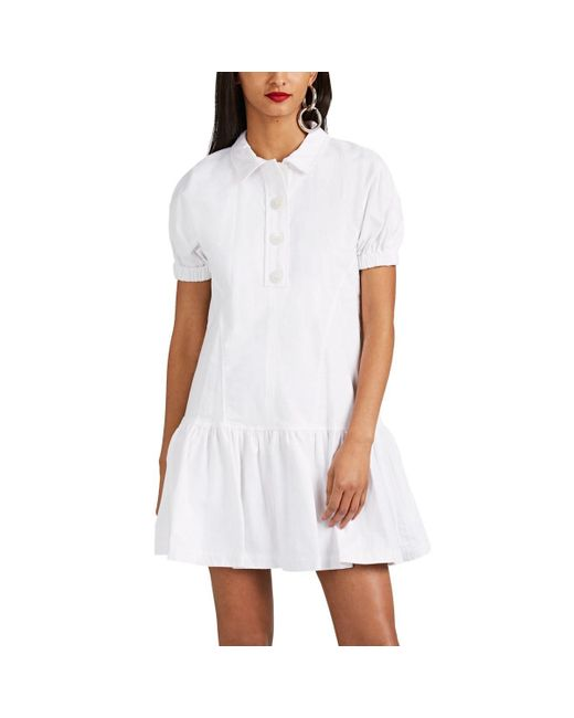 Opening Ceremony - White Cotton Flannel Shirtdress - Lyst