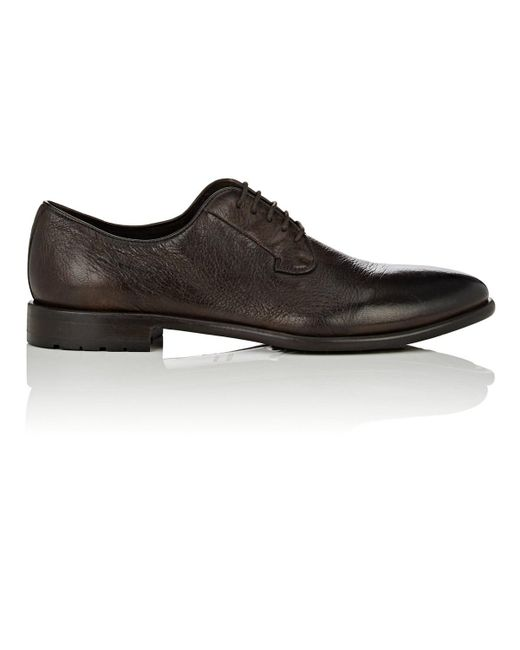 Barneys New York - Brown Washed Leather Bluchers for Men - Lyst