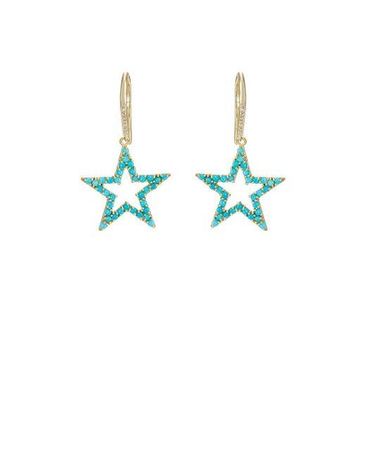 Jennifer Meyer | Blue Open Star Drop Earrings | Lyst