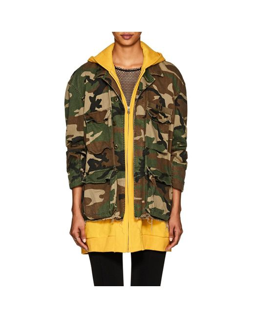0a12955d1e2cc R13 - Yellow Abu Camouflage Cotton Field Jacket - Lyst ...
