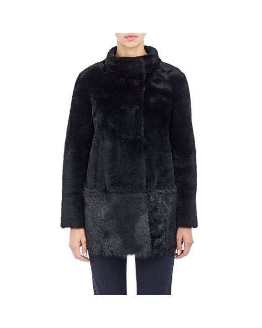 Barneys New York | Black Shearling Jacket | Lyst